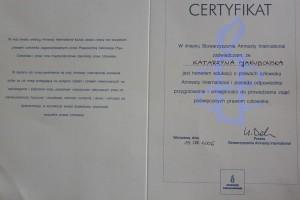 certyfikat AI